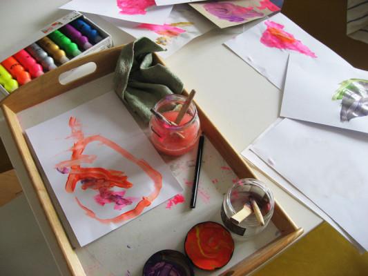 Maľovanie na stole