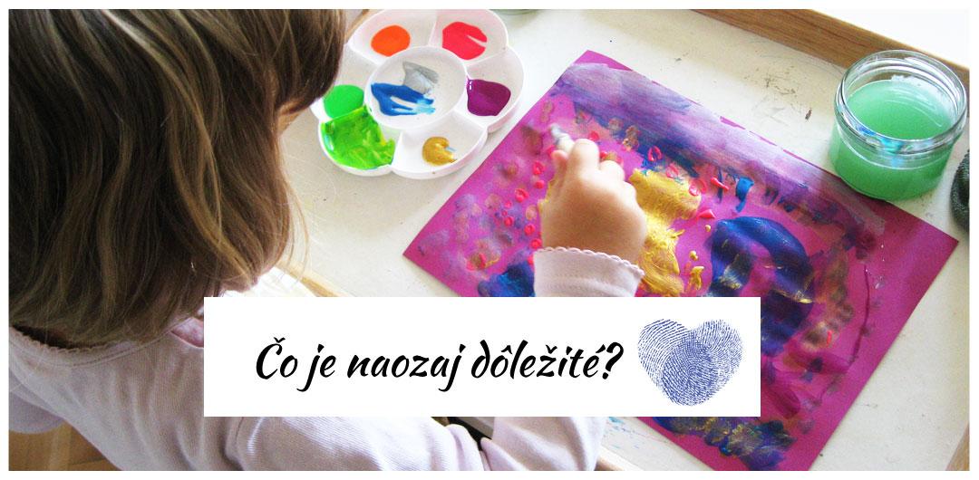 Tvorenie s deťmi - proces vs výsledok