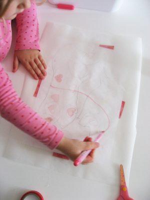 koláž a kreslenie cez pauzák